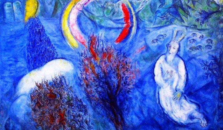 Mose vor dem brennenden Dornbusch Der Pade