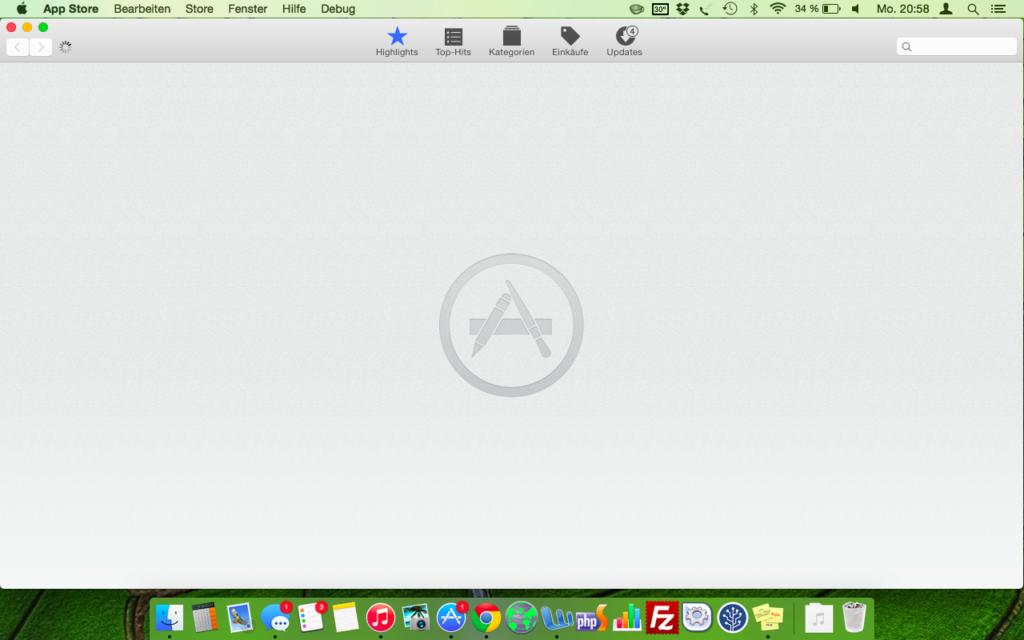 App Store zeigt nichts mehr an