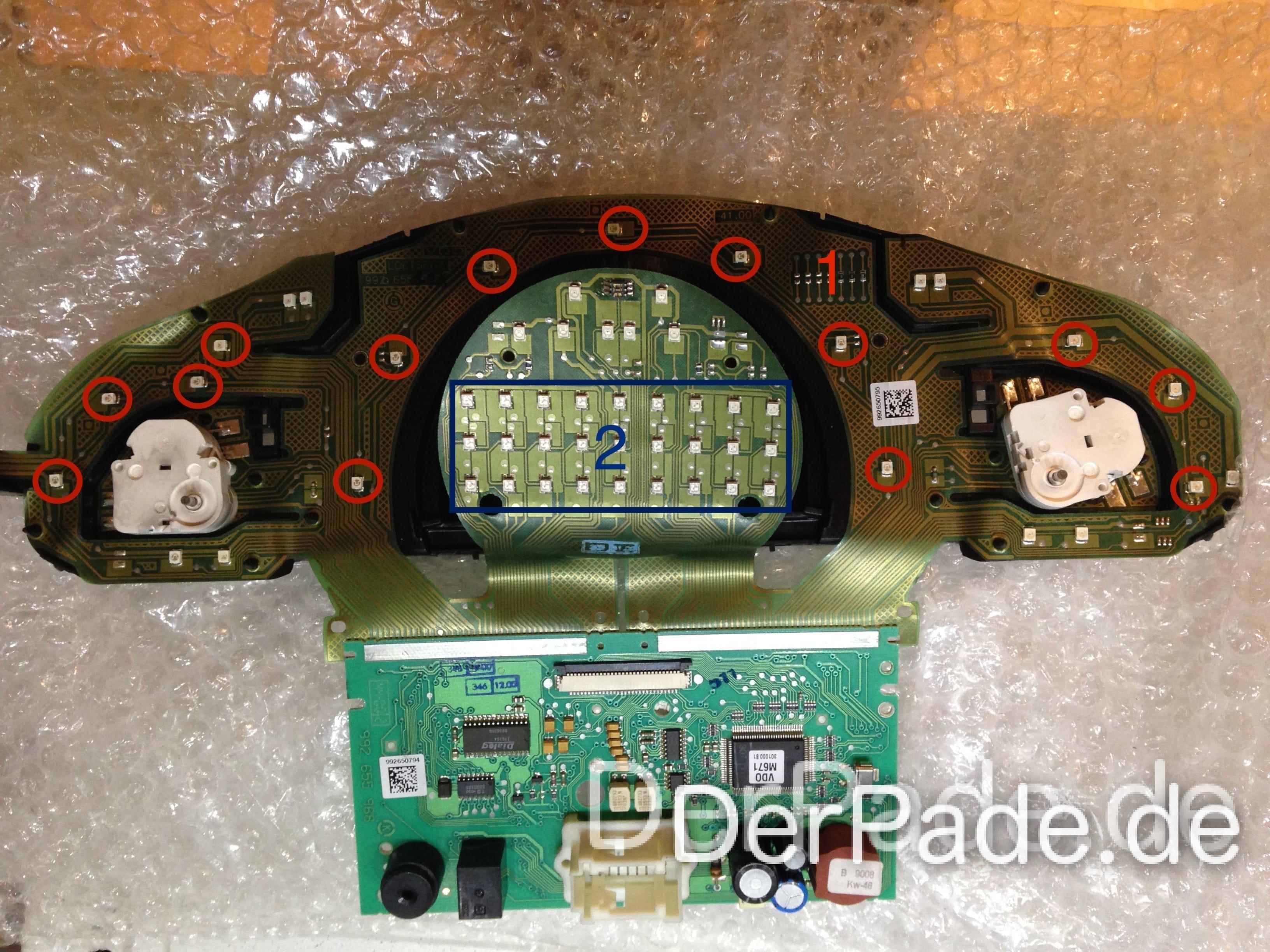 Anleitung: W203 Kombiinstrument/Tacho auf weiße LED Beleuchtung umbauen Teil 1 Der Pade image 2