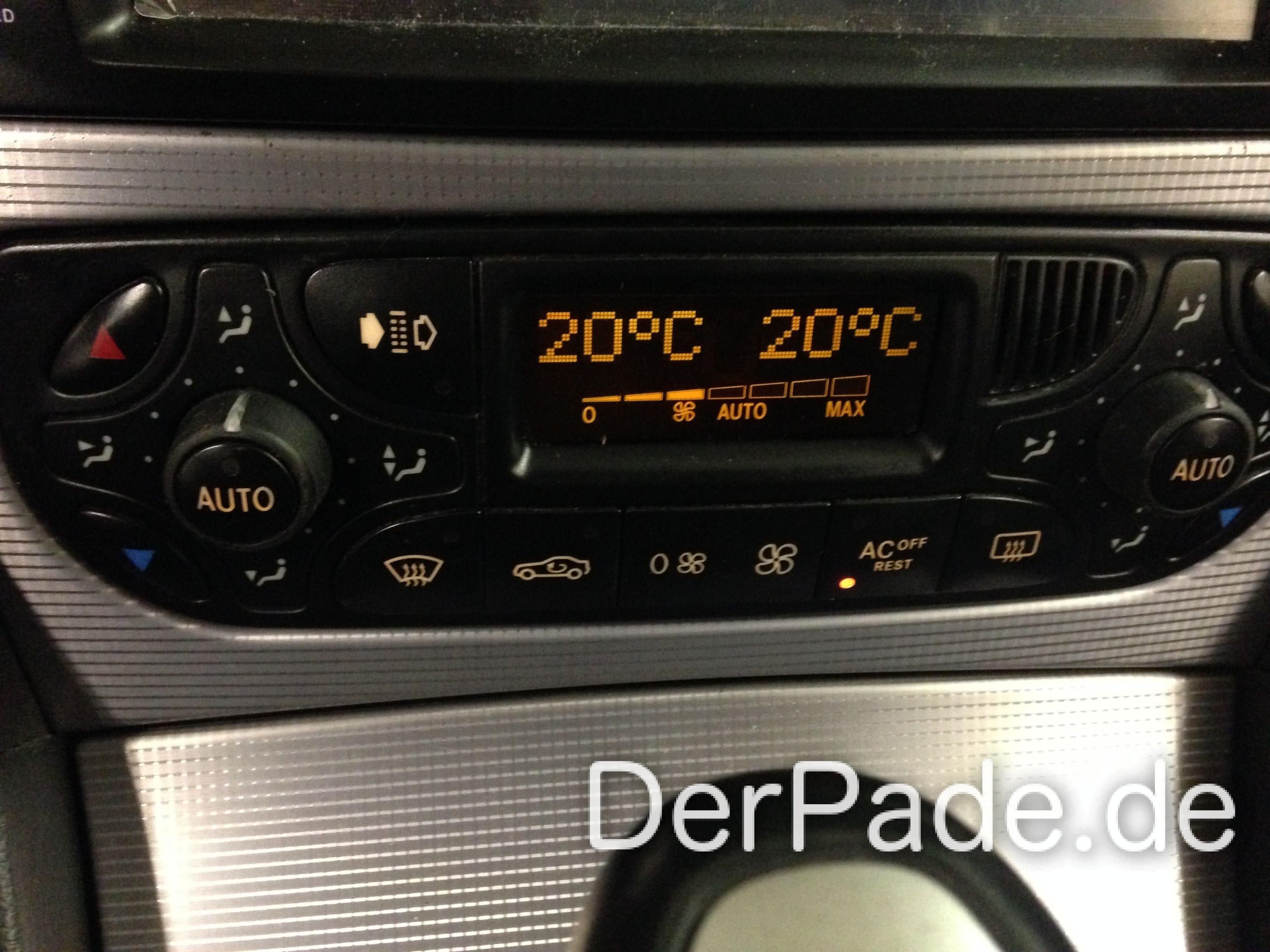 Anleitung: W203 Klimabedienteil von analog auf digital umbauen