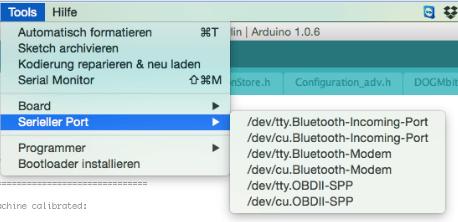 Arduino IDE COM Port auswählen