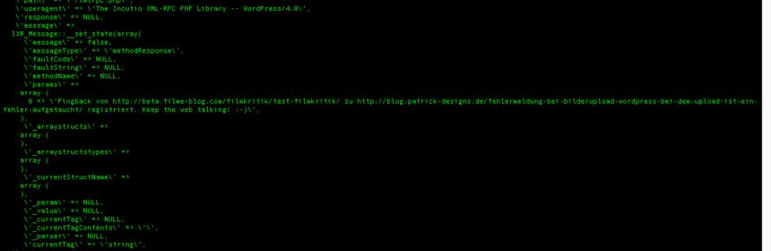 Wenn Pingbacks/Trackbacks mit Custom Post Types nicht mehr funktionieren Der Pade image 8