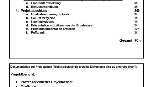 Leitfaden Projektantrag Fachinformatiker für Anwendungsentwicklung/Systemintegration Der Pade image 3