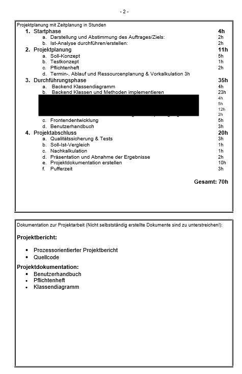 Leitfaden Projektantrag Fachinformatiker für Anwendungsentwicklung