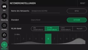 Die Netzwerk-Übersicht bietet die Funktion das Netzwerk automatisch oder manuell zu wählen.