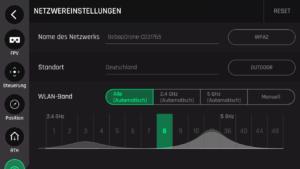 Die Parrot Bebop 1 kann sowohl im 2,4Ghz als auch im 5Ghz Frequenzband betrieben werden.