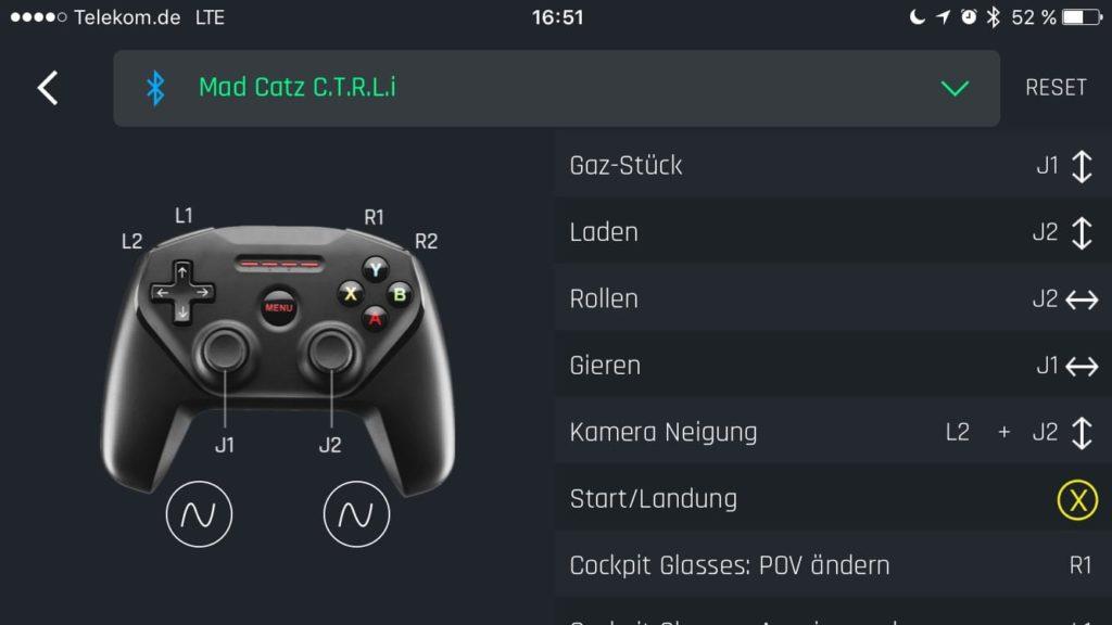 Mad Catz MFI Controller für iPhone und Parrot Drohne.