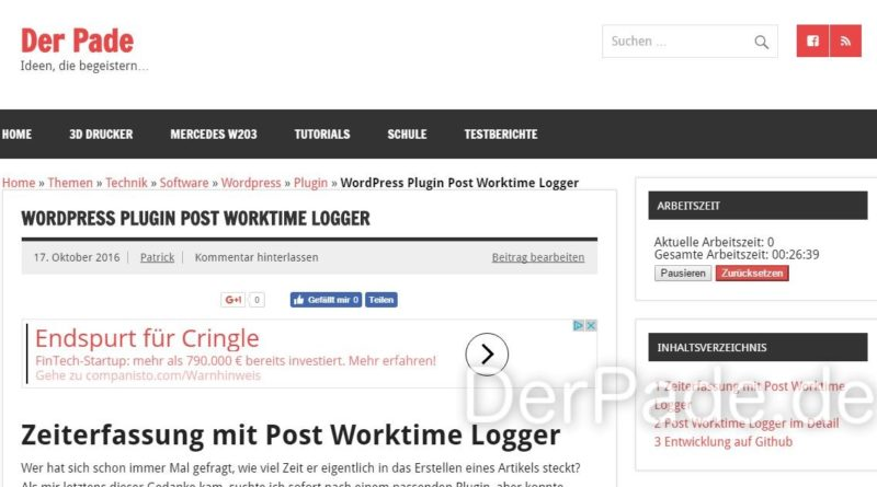 post worktime logger v1.2.3 Frontend Widget min