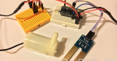 Arduino Cactus Soil Moisture Sensor und Wasserpumpe