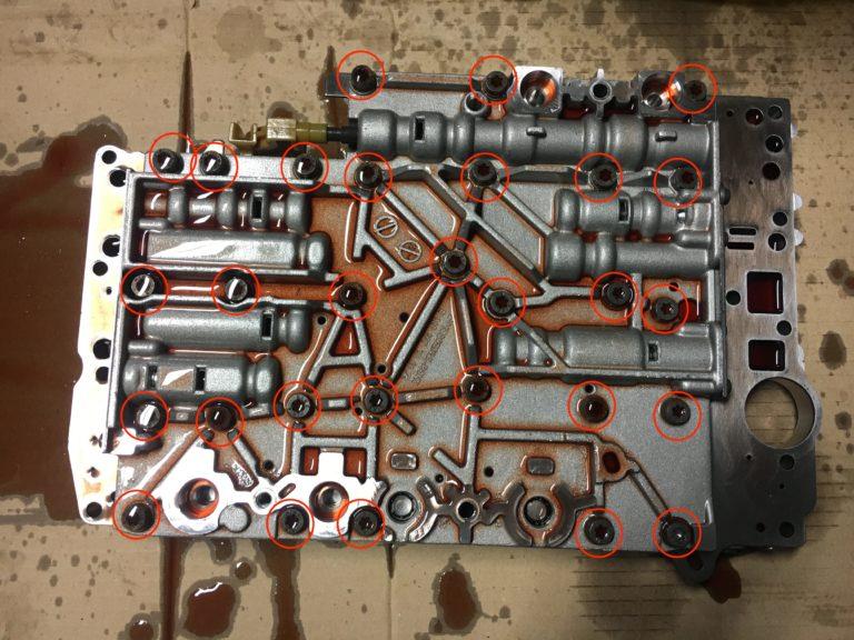 722.6 Automatikgetriebe Schaltschieberkasten - Schrauben