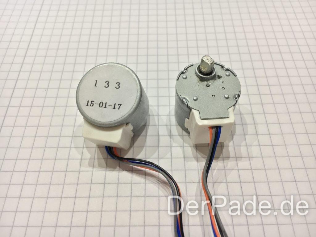 M3D Micro - Die Schrittmotoren der Y-Achse und Z-Achse unterscheiden sich lediglich in der Kabellänge.