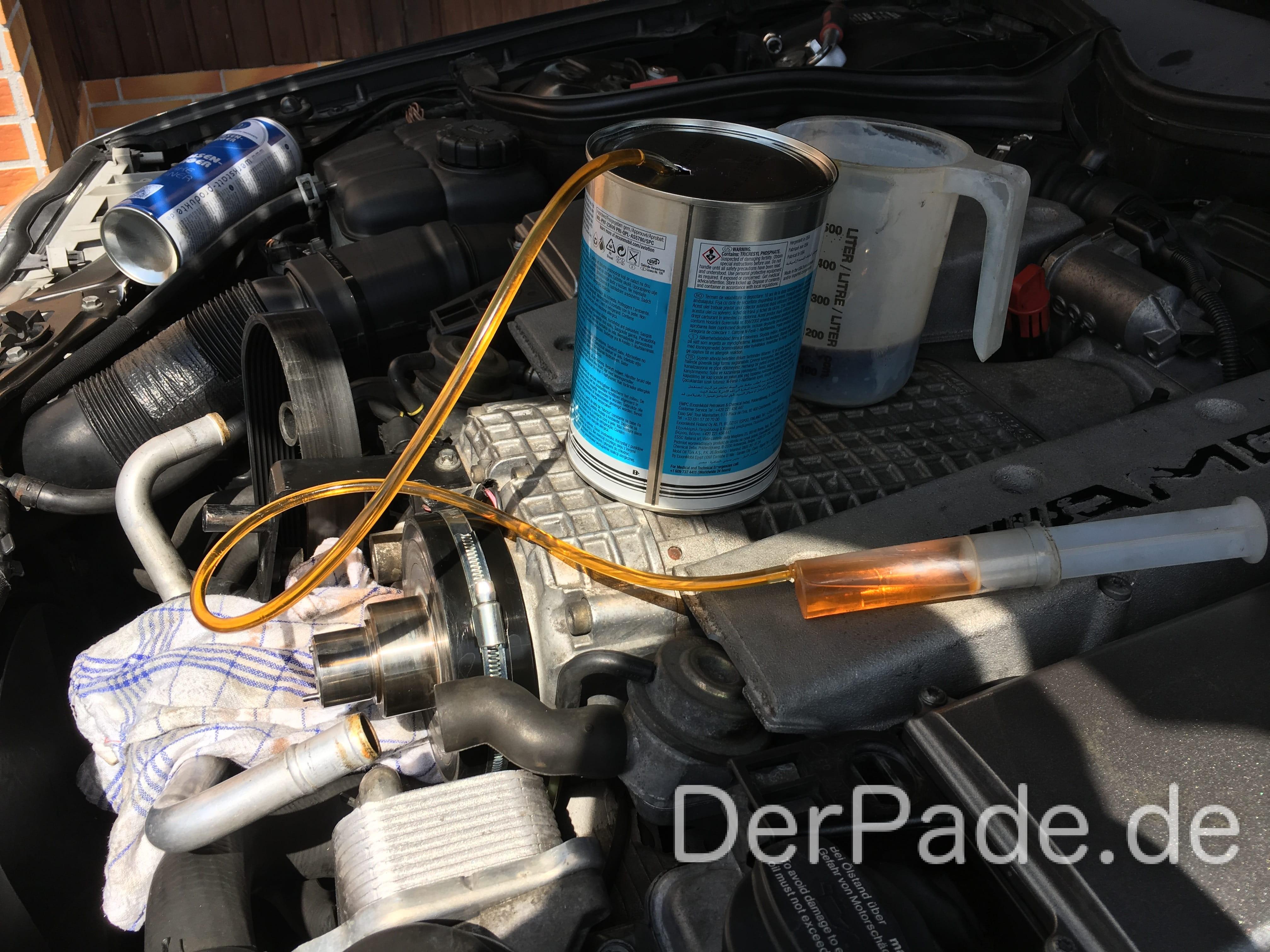 Anleitung: C32 AMG SLK32 AMG Kompressor Ölwechsel