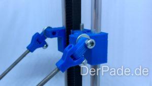 Backpack - Bauanleitung Mechanik - Delta Arm an Carriage montieren