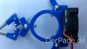 Backpack - Bauanleitung Mechanik - Effector Hotend Schrauben