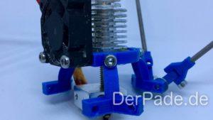 Backpack - Bauanleitung Mechanik - Effector montiert mit Hotend