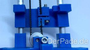 Backpack - Bauanleitung Mechanik - GT2 Riemen montieren und spannen