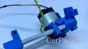 Backpack - Bauanleitung Mechanik - Motorhalter an Alu-Rundstab montieren