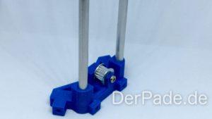 Backpack - Bauanleitung Mechanik - Pulley Idler Alu Rundstab