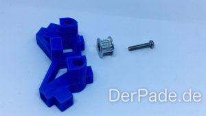 Backpack - Bauanleitung Mechanik - Pulley Idler Einzelteile