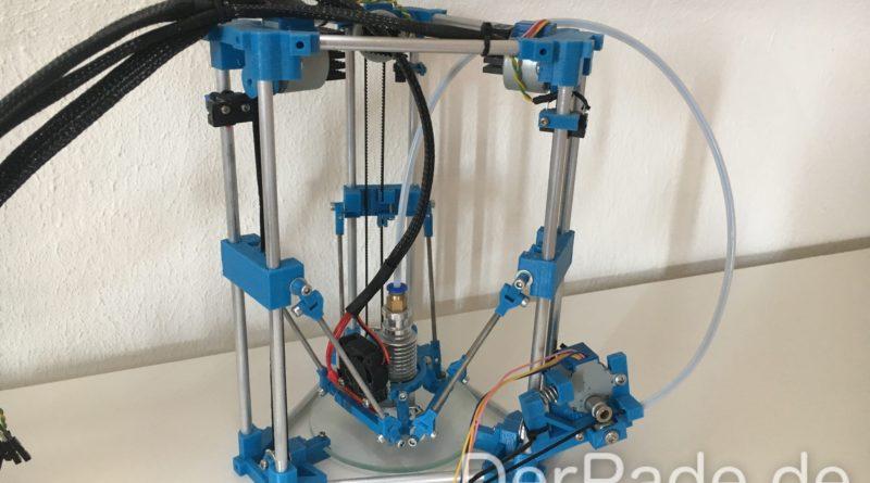 Backpack Mini 3D Delta Drucker Gesamt