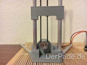 BackpackMiniDelta 3D Drucker Prototyp - Motorhalter mit neuer Riemenführung