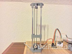 BackpackMiniDelta 3D Drucker Prototyp - Neue Riemenführung