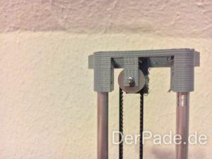 BackpackMiniDelta 3D Drucker Prototyp - Pulley Idler mit neuer Riemenführung