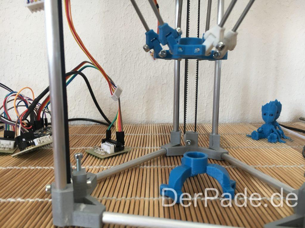 BackpackMiniDelta 3D Drucker Prototyp - Vergleich Effector alt mit neu