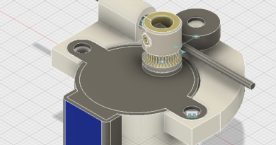 Der 22Backpack22 mini Delta 3D Drucker Extruder 3D Modell V1