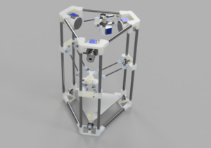 Der Backpack mini Delta 3D Drucker - 3D Rendering V43