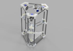 Der Backpack mini Delta 3D Drucker - 3D Rendering V43