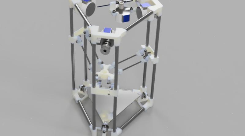 Der Backpack mini Delta 3D Drucker 3D Rendering V43 e1494630927239