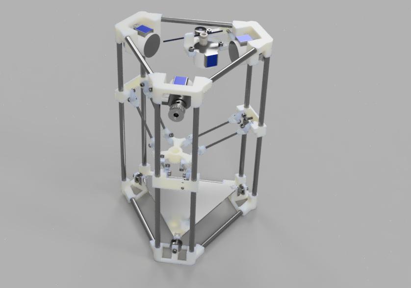 Der Backpack mini Delta 3D Drucker - Gesamtkonzept 3D Modell
