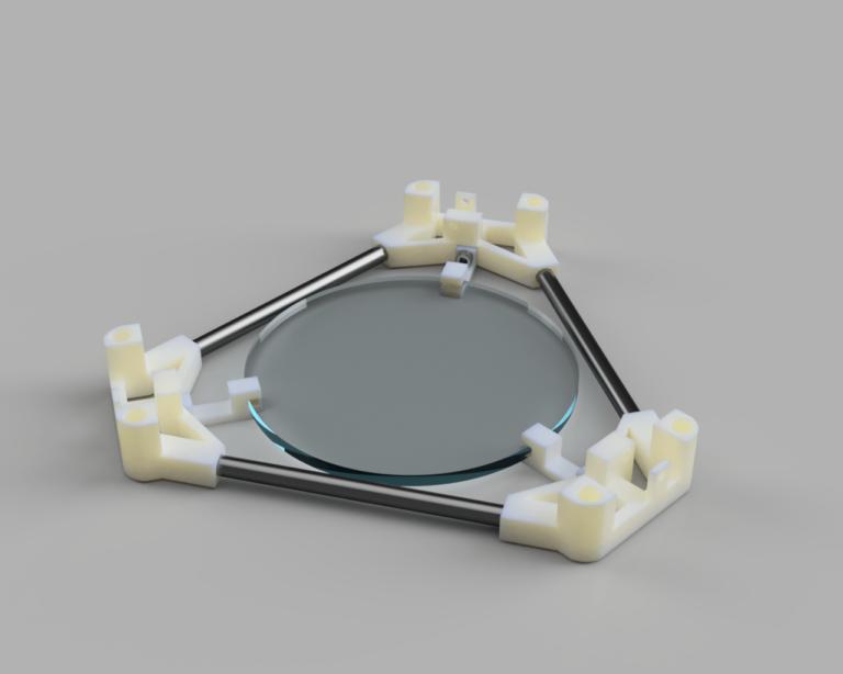 Der Backpack mini Delta 3D Drucker - Druckbett Konzept V1
