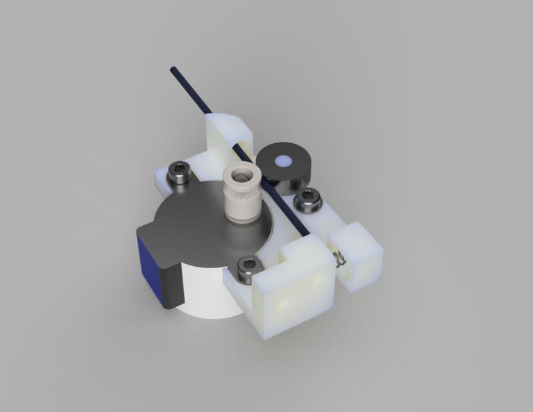 Der Backpack mini Delta 3D Drucker - Extruder V2 3D Modell gerendert