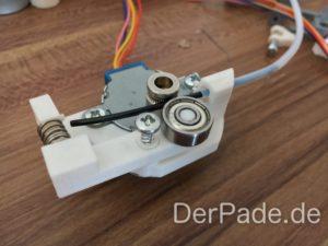 Der Backpack mini Delta 3D Drucker - Extruder V2 ausgedruckt