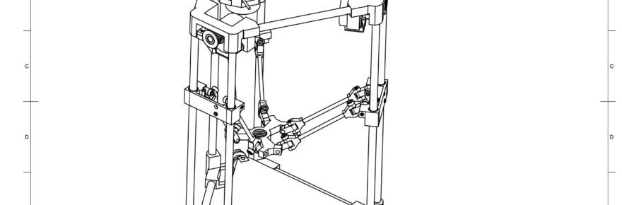 Der Backpack mini Delta 3D Drucker - Bauzeichnung Gesamtkonzept V39