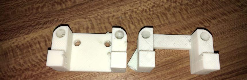 Der Backpack mini Delta 3D Drucker - Motorhalter Vergleich V1 und V30