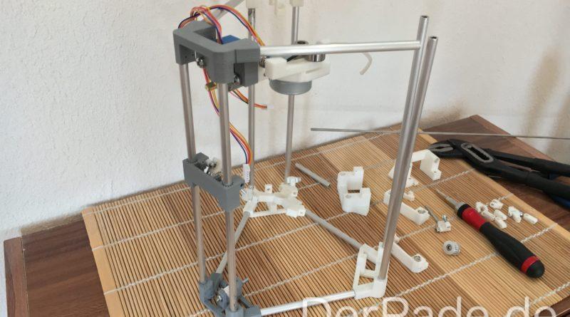 Der Backpack mini Delta 3D Drucker Prototyp 2