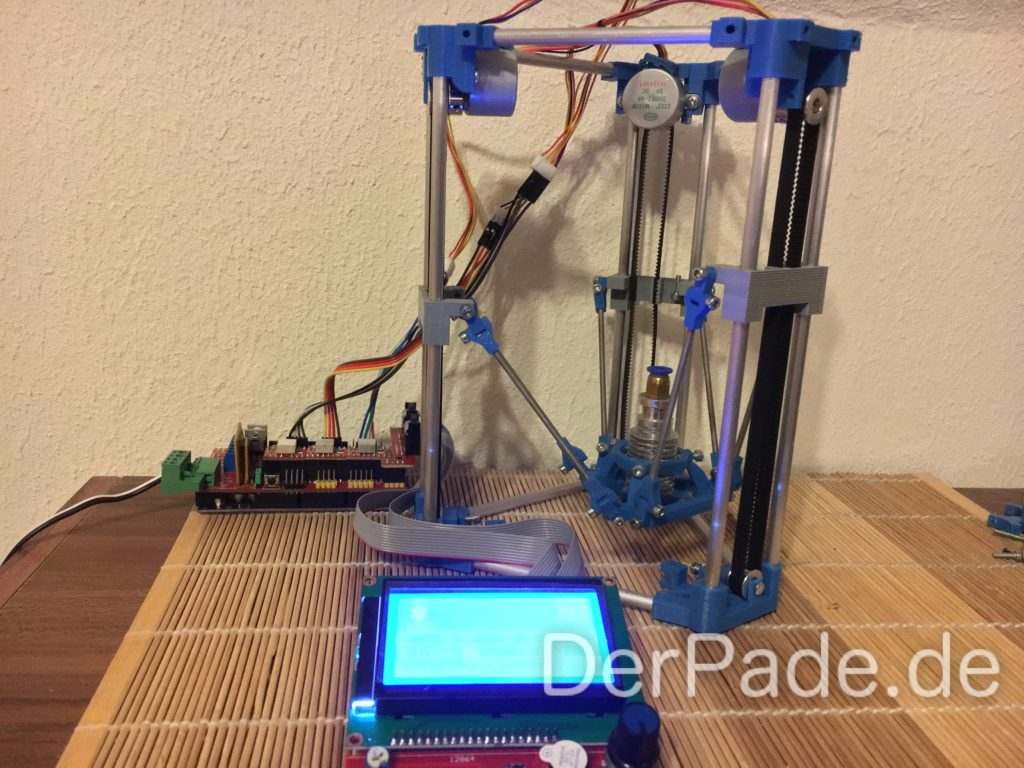 Der Backpack mini Delta 3D Drucker - Prototyp V44