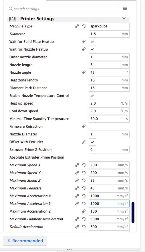 Das Cura Plugin ermöglicht euch in einer GUI die Werte für Acceleration, Jerk, Speed etc. einzustellen.