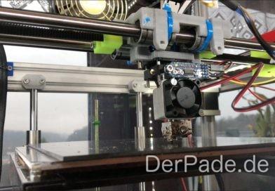Der eigens konstruierte Adapter verbindet das E3D v6 Hotend mit dem Precision Piezo Element.