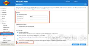 Time Machine Backup auf externer USB Festplatte an einer AVM FRITZ Box 7530 erstellen Benutzer anlegen