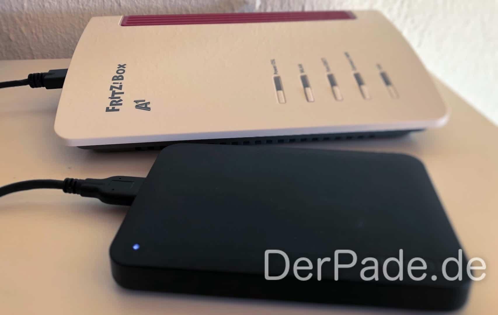Time Machine Backup auf externer USB-Festplatte an einer AVM FRITZ! Box 7530 erstellen